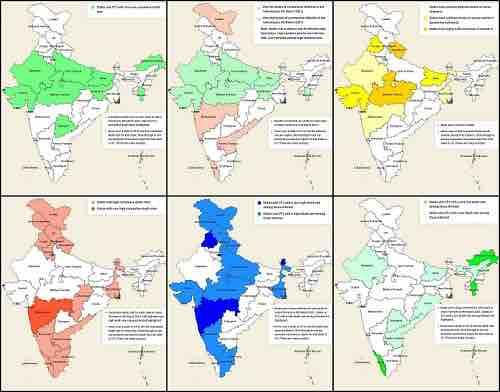 coronavirus in Indian states and UT's